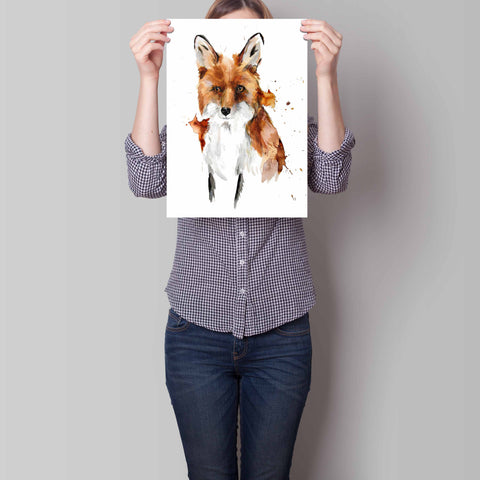 Foxed - Limited edition fine art print with gold and silver leaf hand embellishments. Edition of just 50 Available in 3 sizes A4, A3 and A2 By artist Chrissy Taylor