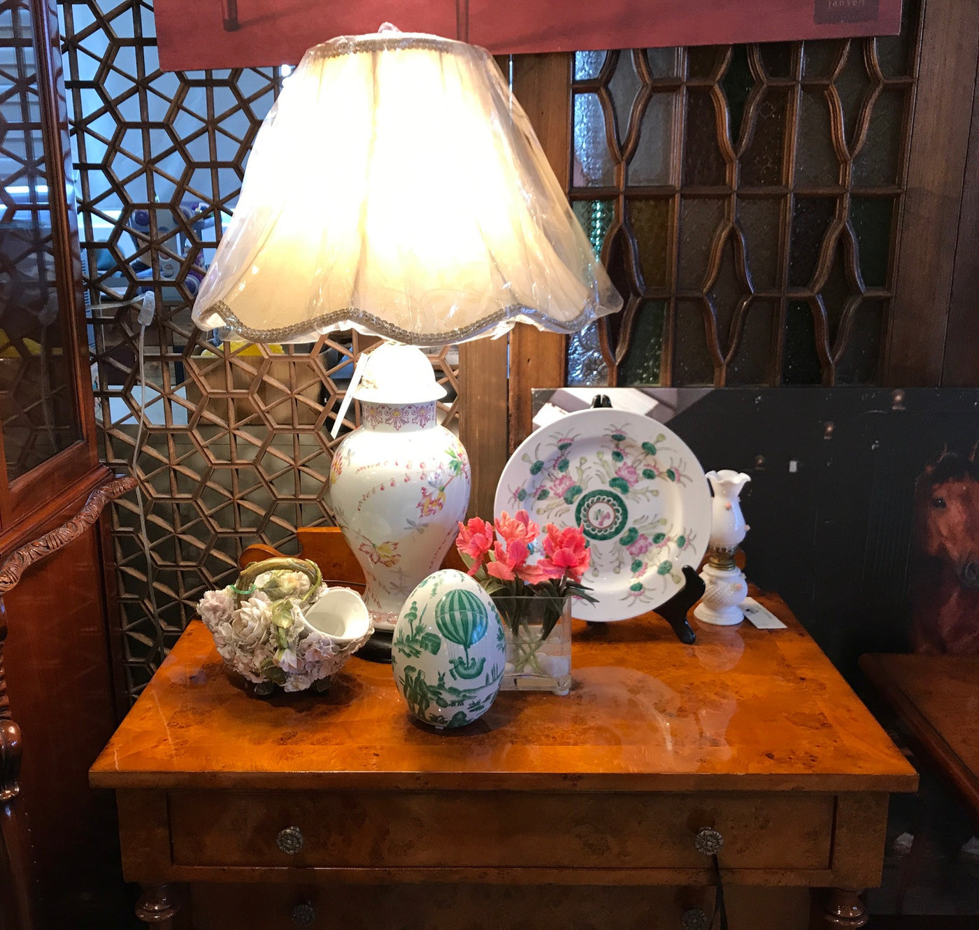 Amazing vintage Choisserie ceramic lamps