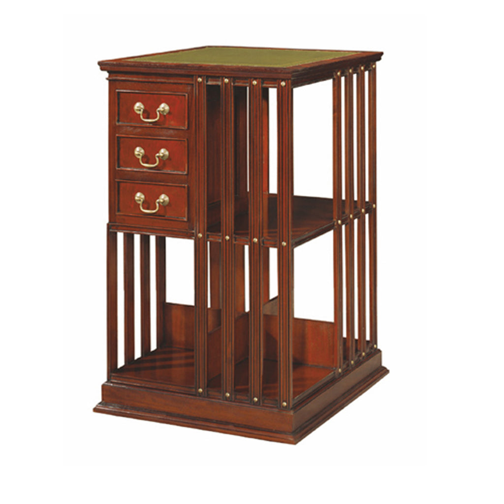 rotating bookcase classical style