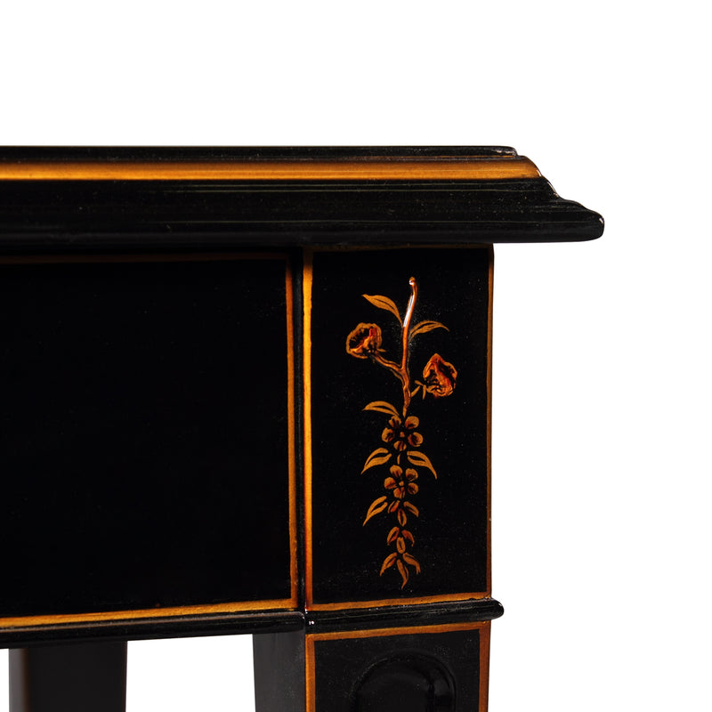 Console Table Chinoiserie, Arthur, Eglomised Mirrored Top
