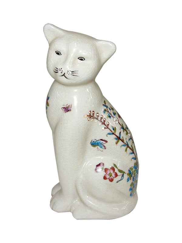 Sitting Cat Ceramic, old