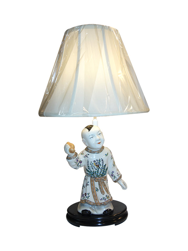Chinese boy lamp