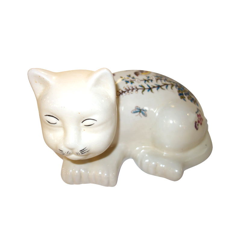 Sleeping Cat Ceramic,old