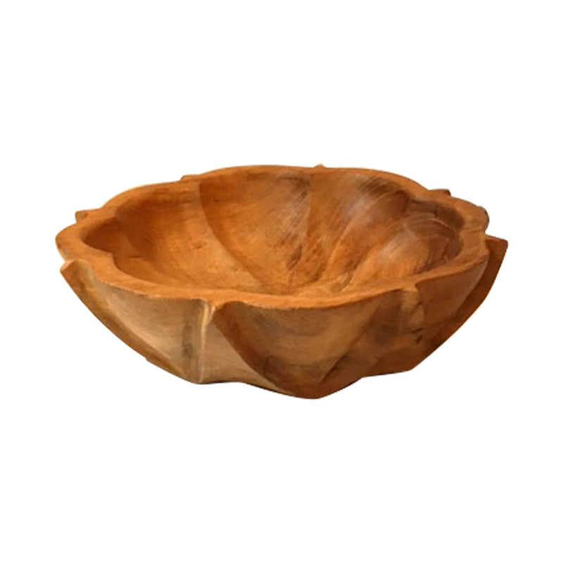 Pumpkin Teak Bowl