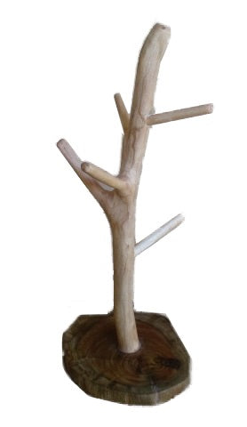 Made of wooden branch without skin and driftwood base,Molave Wood