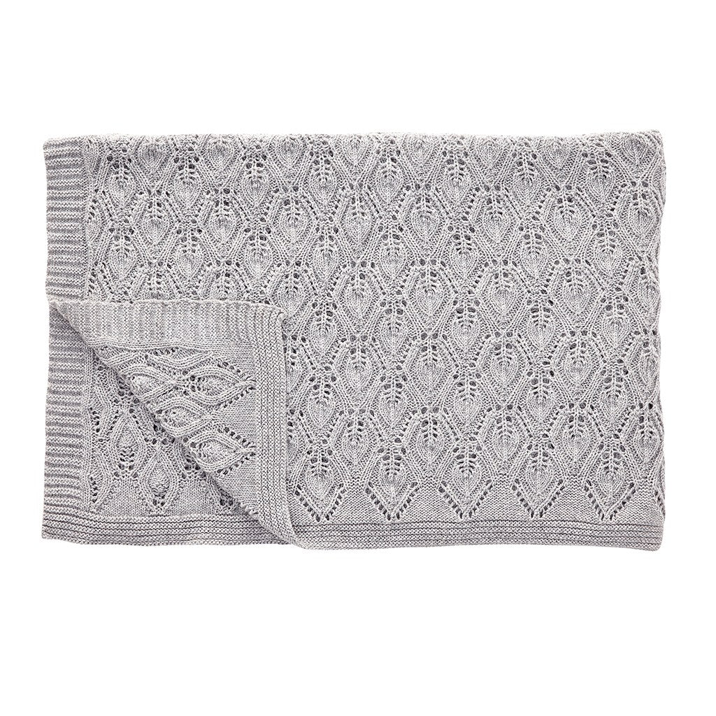 Grey Textiles with plaid pattern made from lambswool designed by Denmark brand- Hübsch, keep cold at bay.