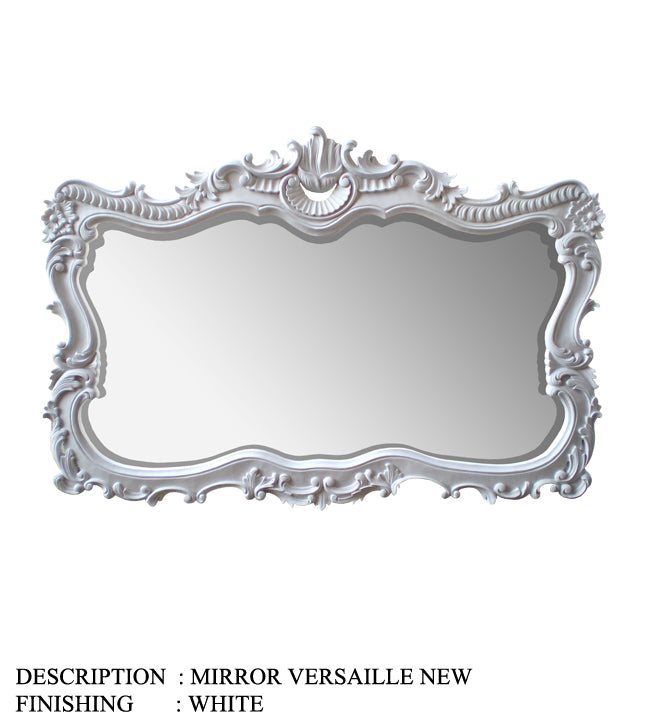 Mirror Versaille New, White