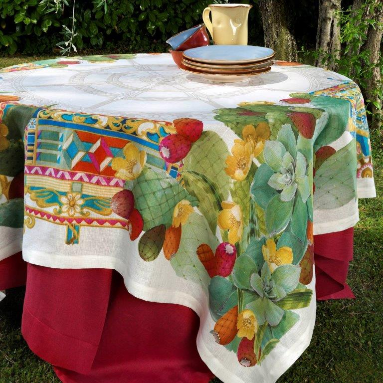 Tablecloth, MEDITERRANED Cream