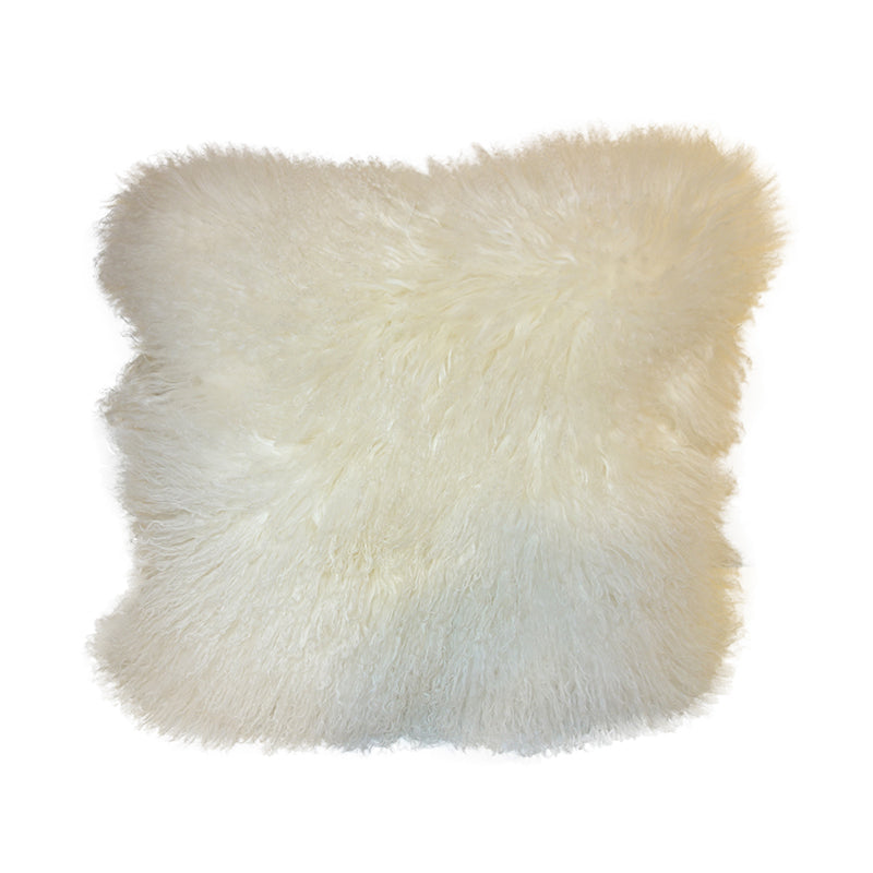 White sheep hair cushion