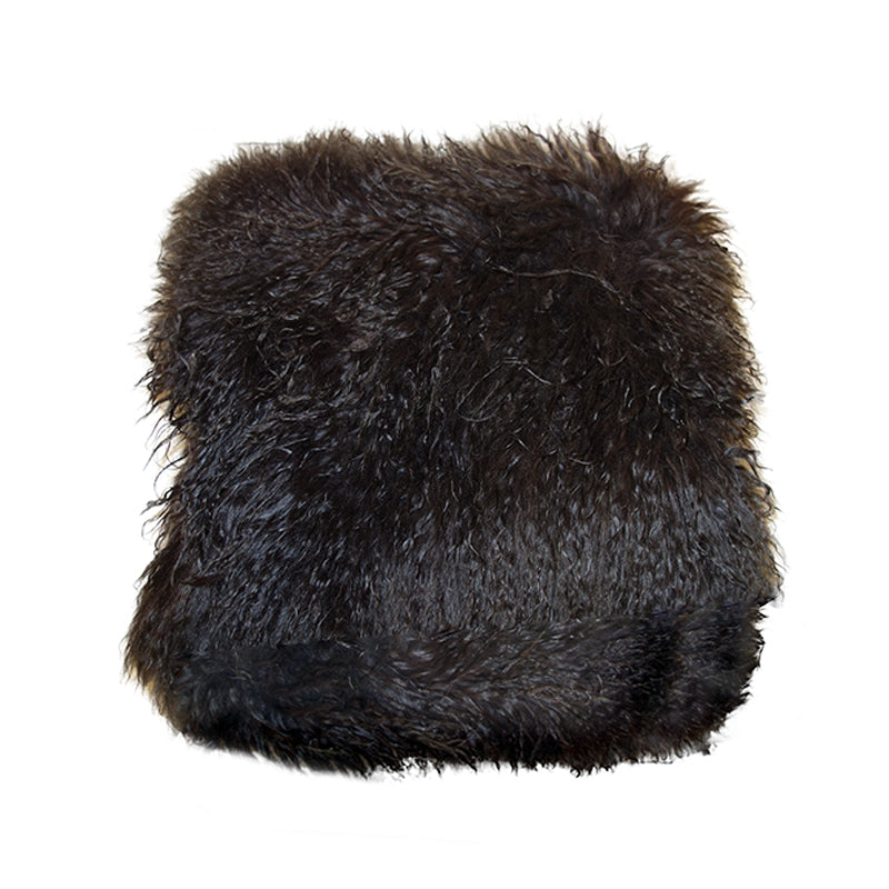 Shaggy sheep hair cushion
