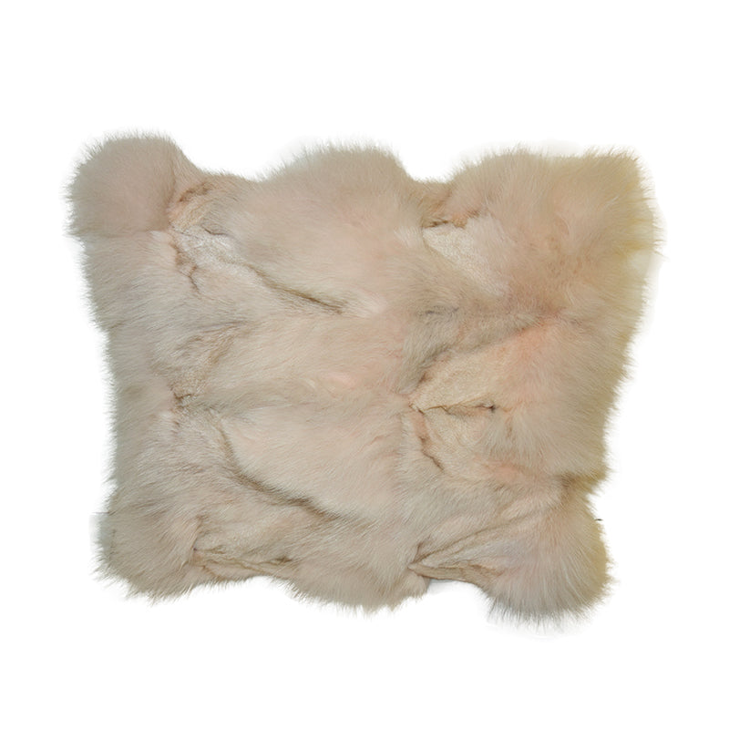 Snow Fox Cushion, Peach