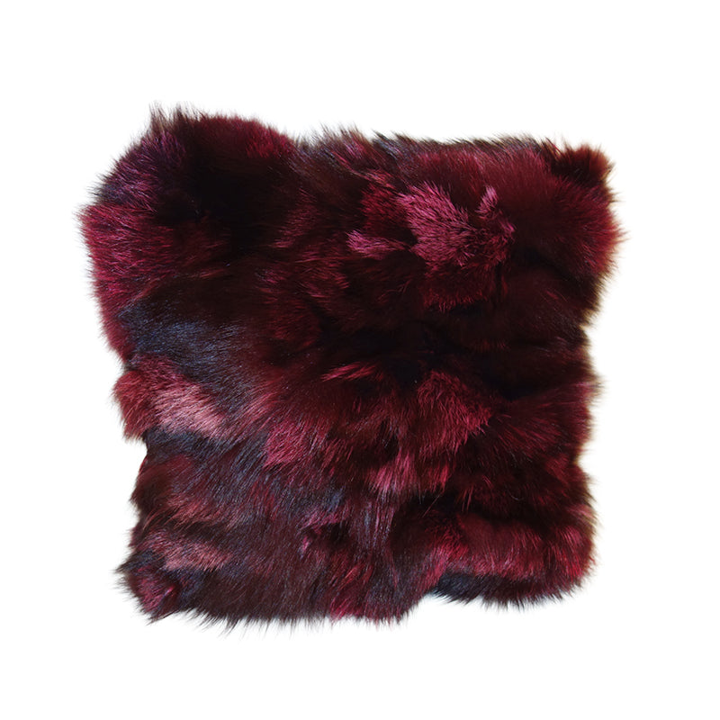 Fox cushion burgundy