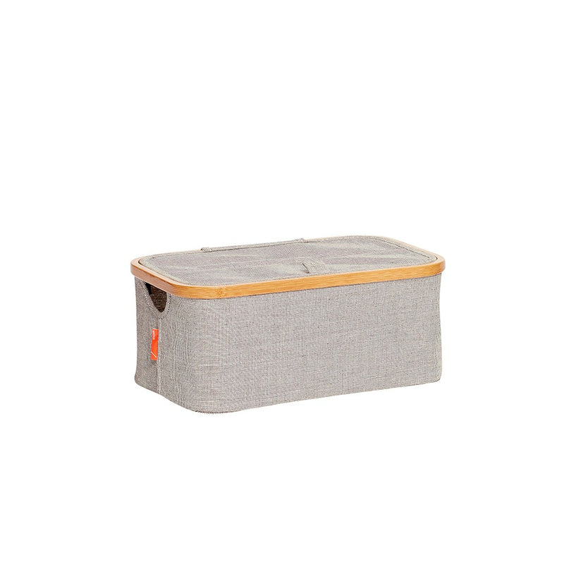 Storage box made from fabric &  bamboo  is designed by Denmark brand- Hübsch.