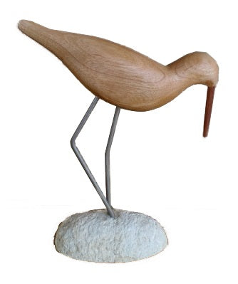 Long Beaked Wooden Bird Decor