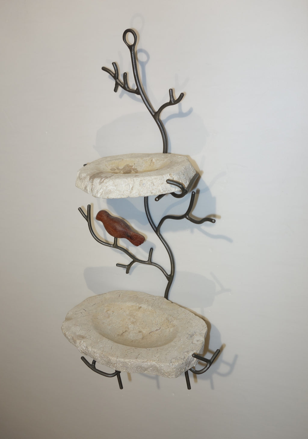 Marble soap dish  on iron tree house