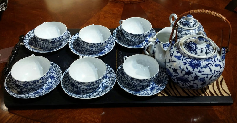 Ming blue tea set