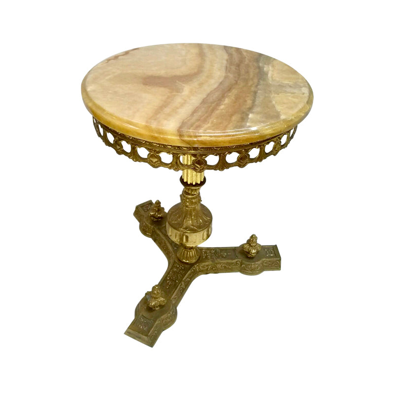 Agate & Brass Side Table