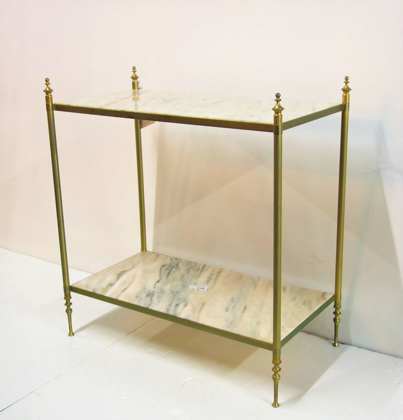 Brass shelf, two tier