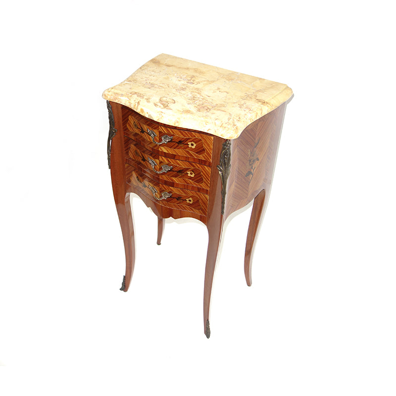 Italian 3 drawer night table