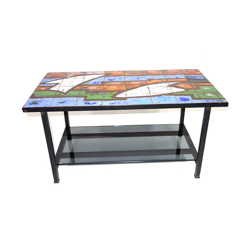 A60 Circa 1950 Ceramic Coffee Table