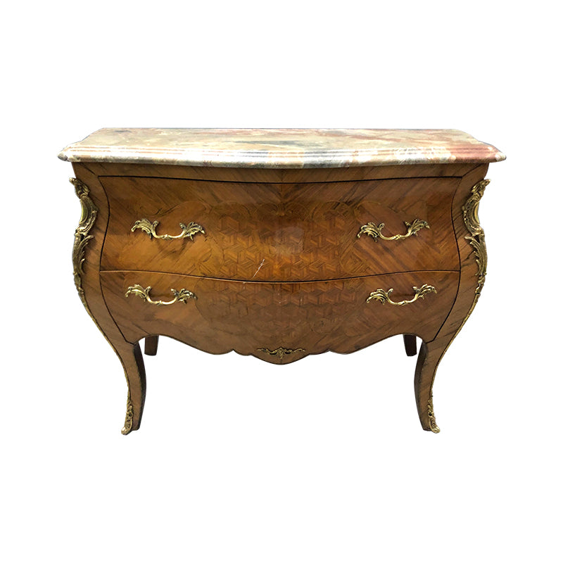 Louis XV Style Brass Ormolu-Mounted Commode