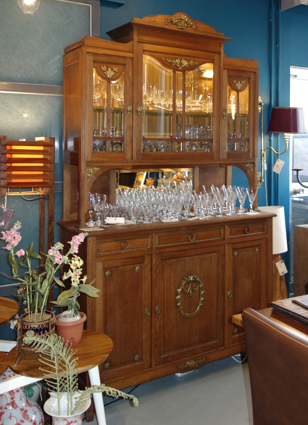 Vintage French wine cabinet, vintage hutch  and buffet