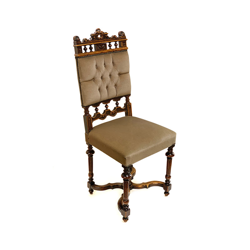 tufted button dining chair