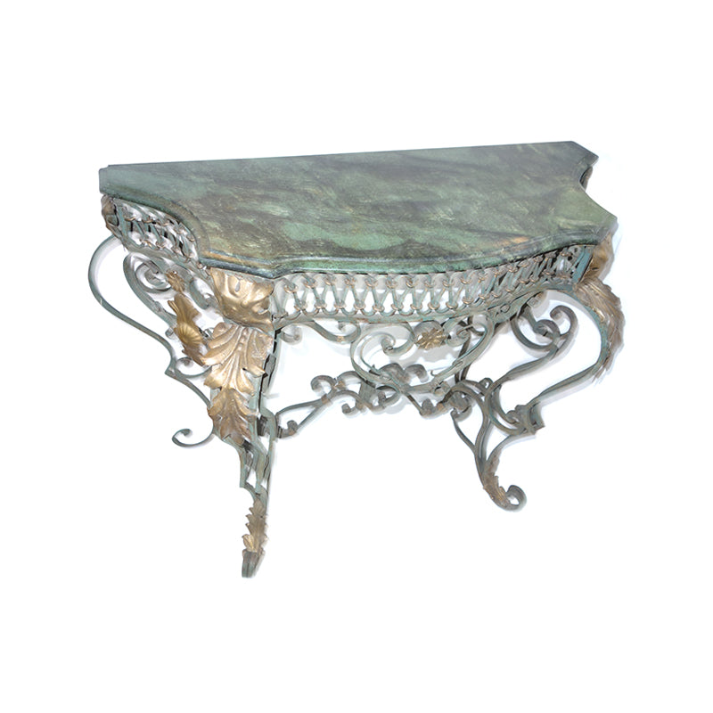 Italian Bronze and Patinated Metal Console Table
