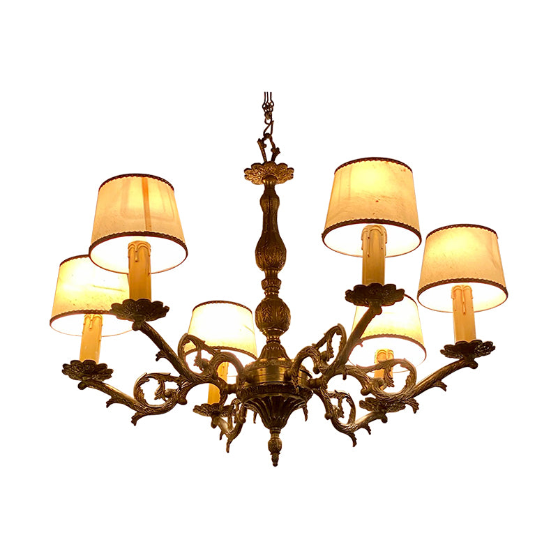 French vintage brass chandelier