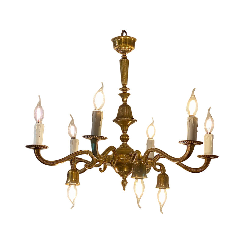 Romus brass chandelier