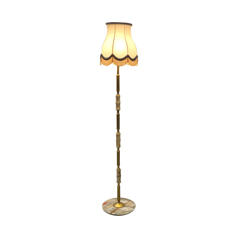 Floor lamp brass/ marble base
