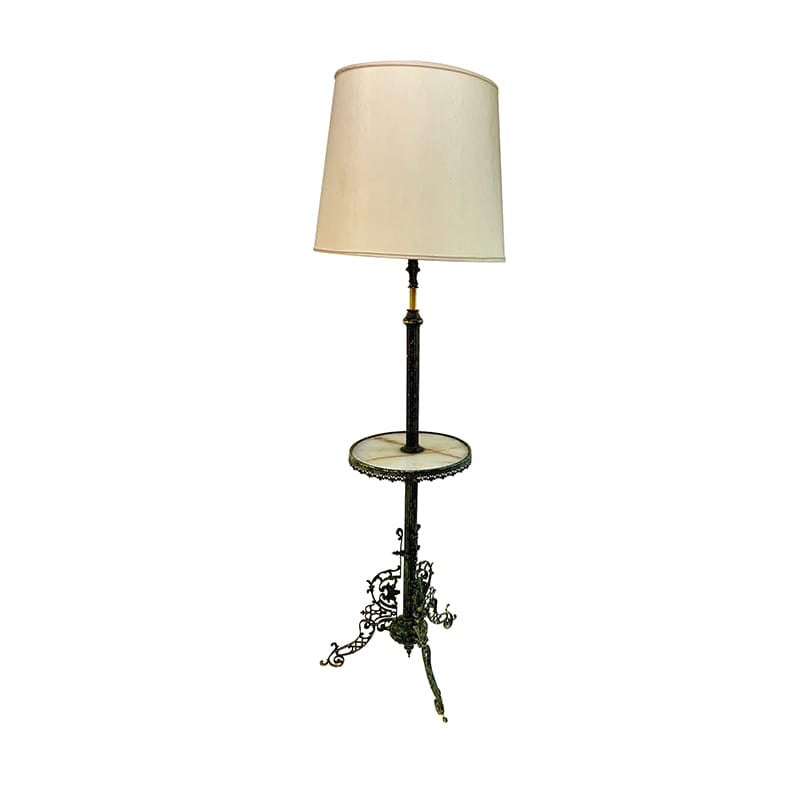 bronze lamp stand (included shade)