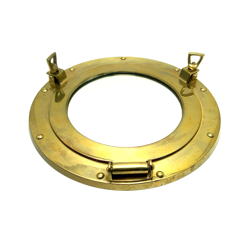 Boat brass window mirror