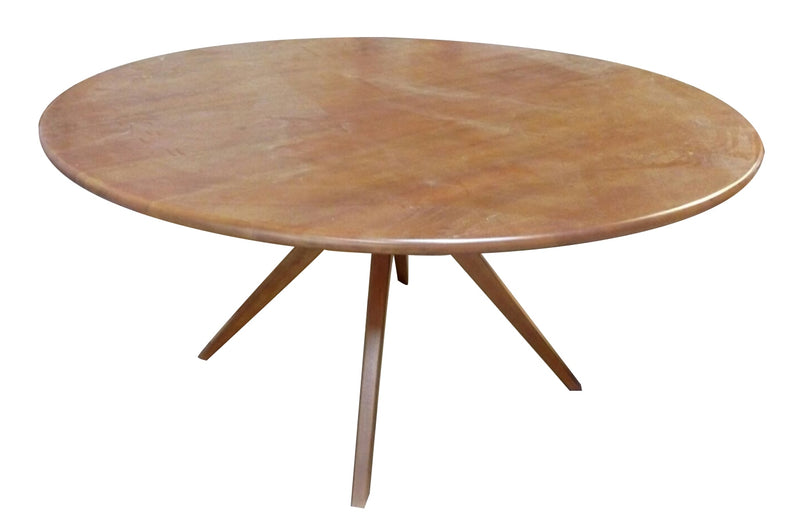Stunningly beautiful teak table in octopus legs becomes a perfect focal point in modern dining room, its a clean execution of a simple but tasteful dining table.