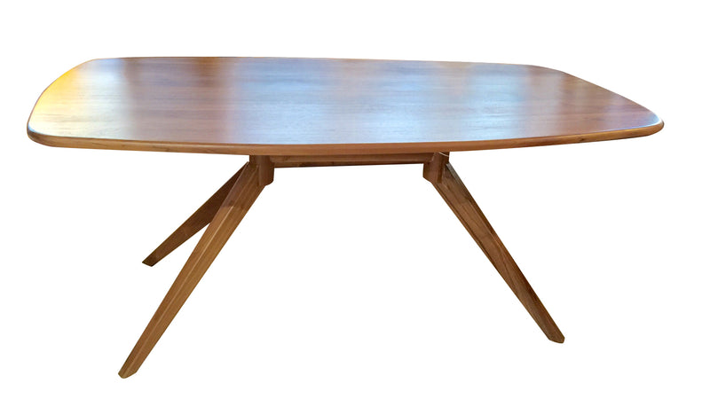 x  cross legs dining table, teak dining table