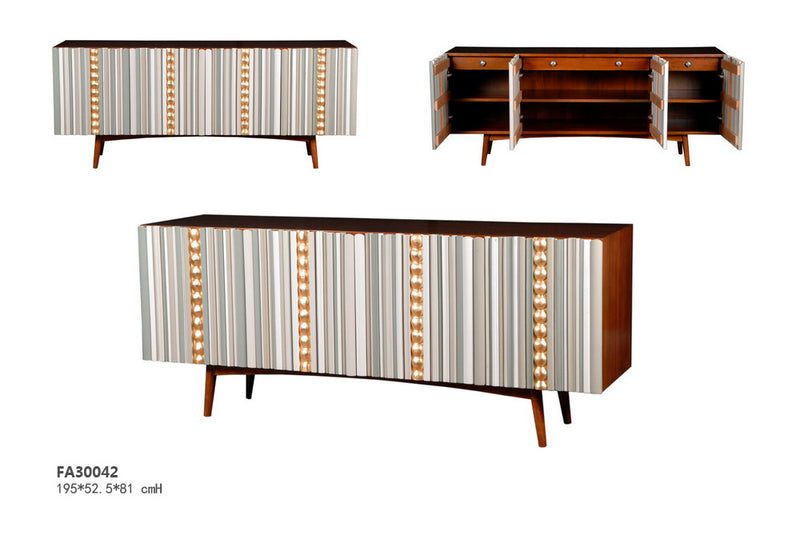 Evans sideboard showcases French aesthetics  4 drawers and storage