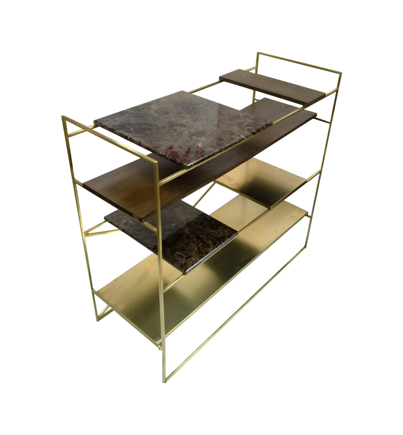brass marble cabinet