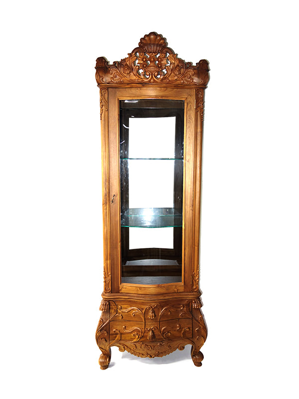 Tulip china Cabinet Single legal Teak, 2.4M