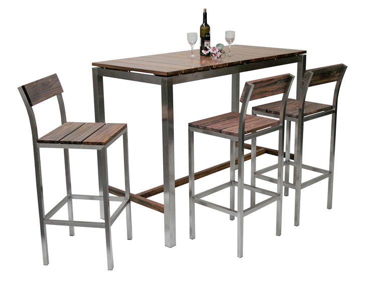 Solid rose wood with 304 stainless steel support high legs, Titan Arus bar table can be used both indoor and outdoors.