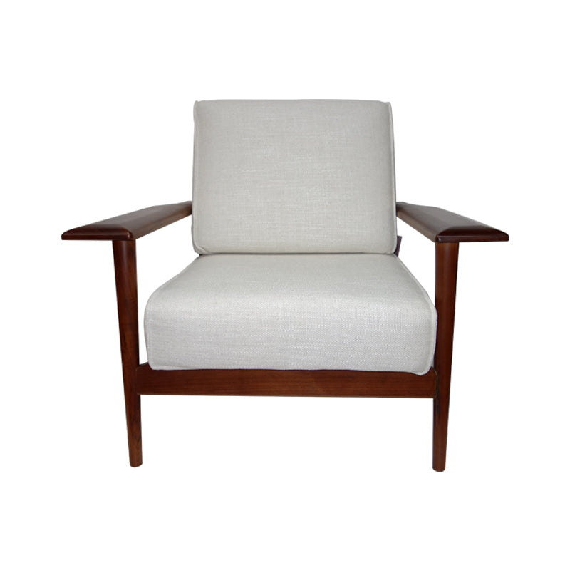 Solid walnut armchair Scandinavian fabric  Dao armchair