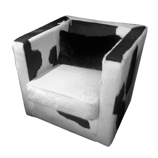 leisure armchair cowhide leather, modern minimalist