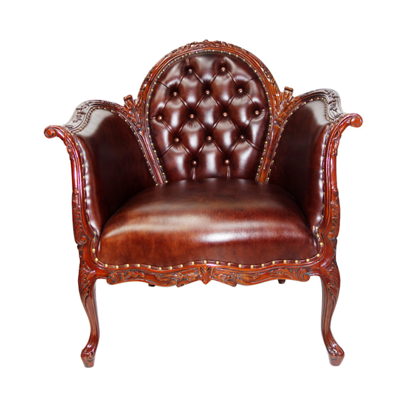 Classic  French leather sofa,