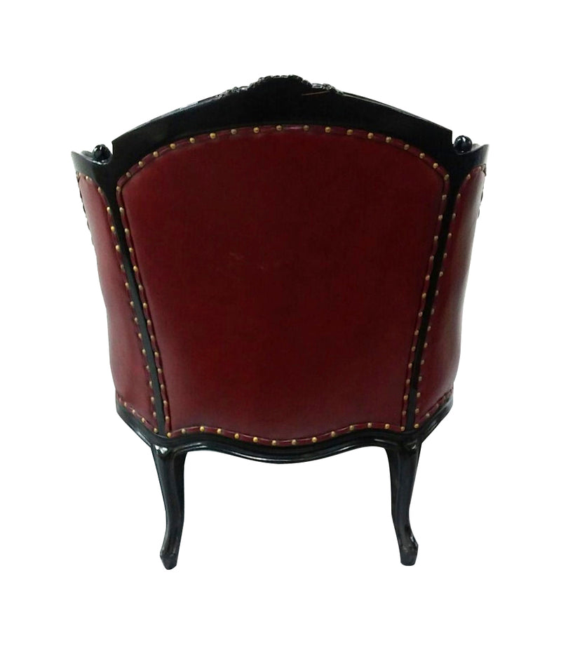 Carved Bergere armchair
