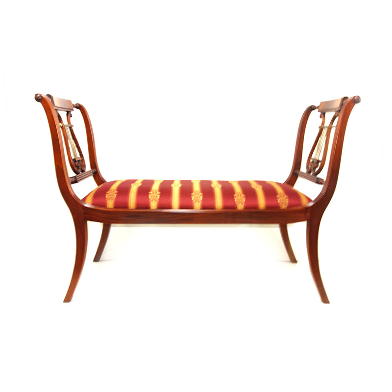 Lyre bench double sided