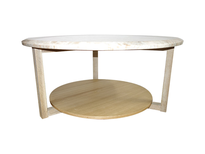 Ottawa Coffee Table made from solid oak, modern but more sphsticated base makes it one of a kind table.  Cotetable France.