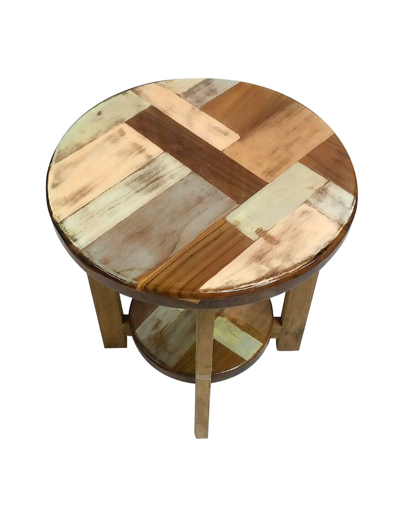 Mosaic round side table