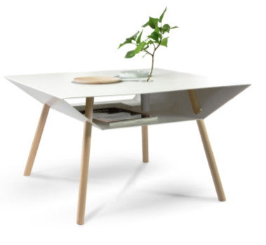 German made white coffee table for display and storage