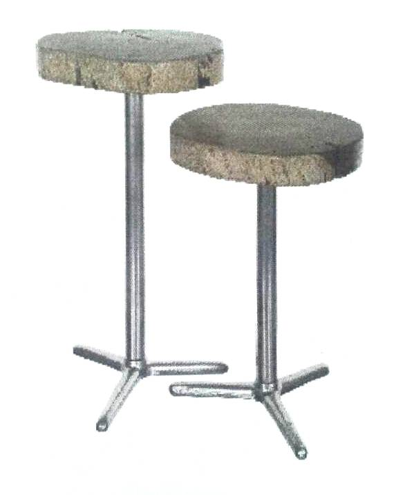 Side Table Acacia Round with Iron Leg