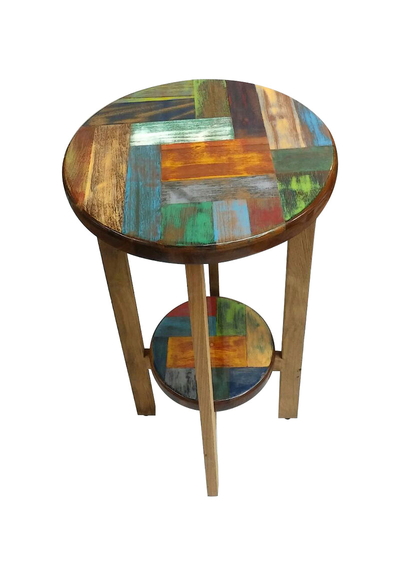 Mosaic tall side table