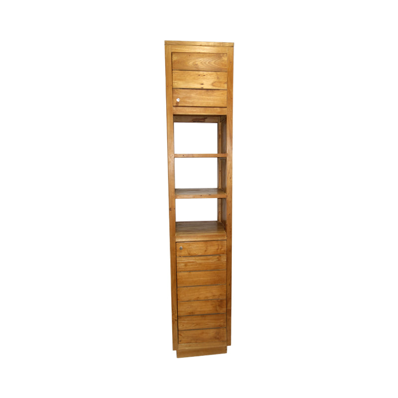 Made of recycle teak wood, Sienna is well compartmentized for displaying and storing books or decors.
